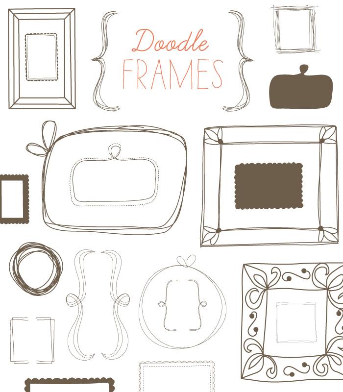 Doodle Frame Clip Art.