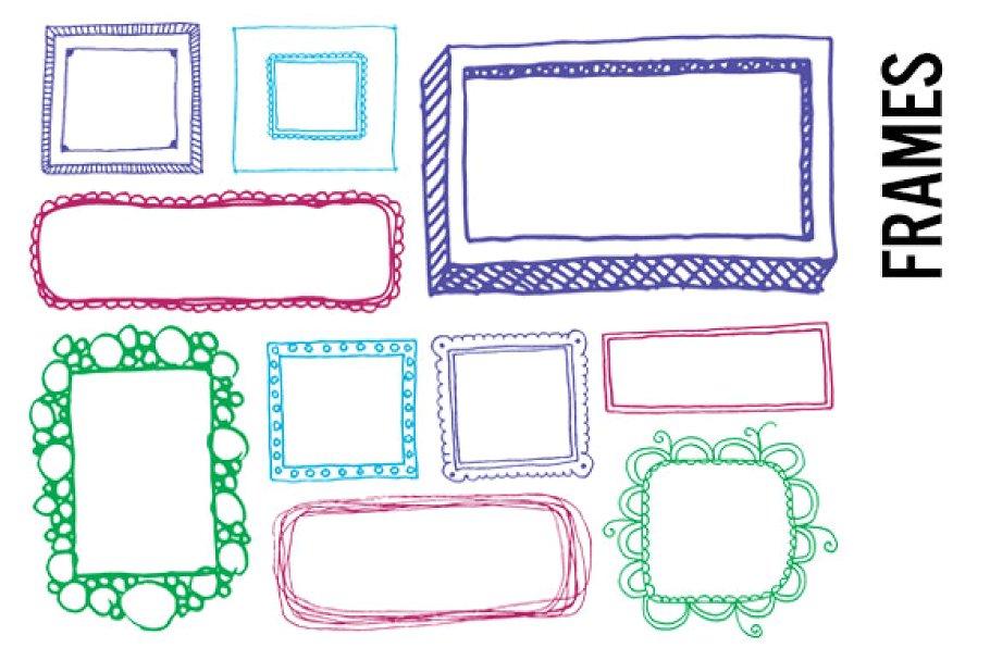 Doodle Frames Clip Art.