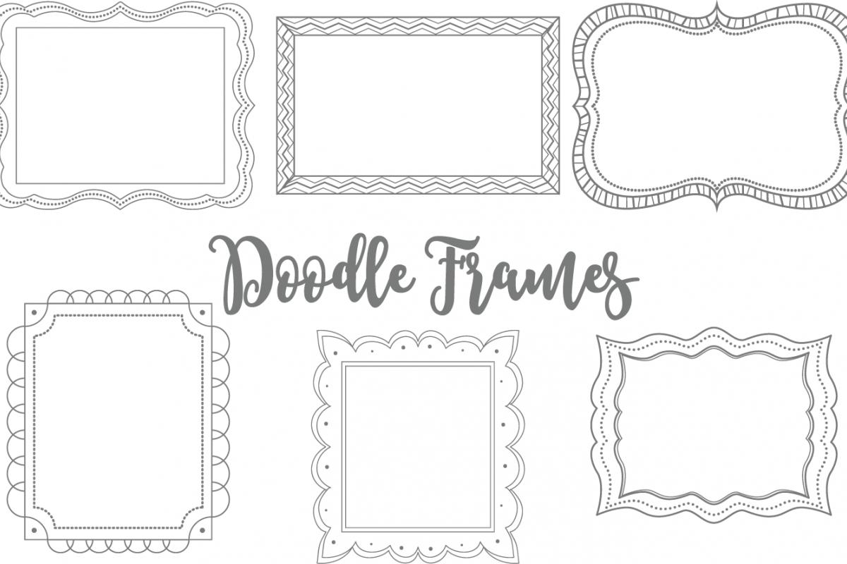 Clip Art Doodle Frames Set 3.