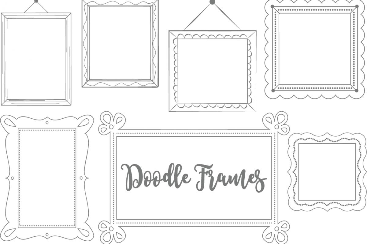 Clip Art Doodle Frames Set 2.