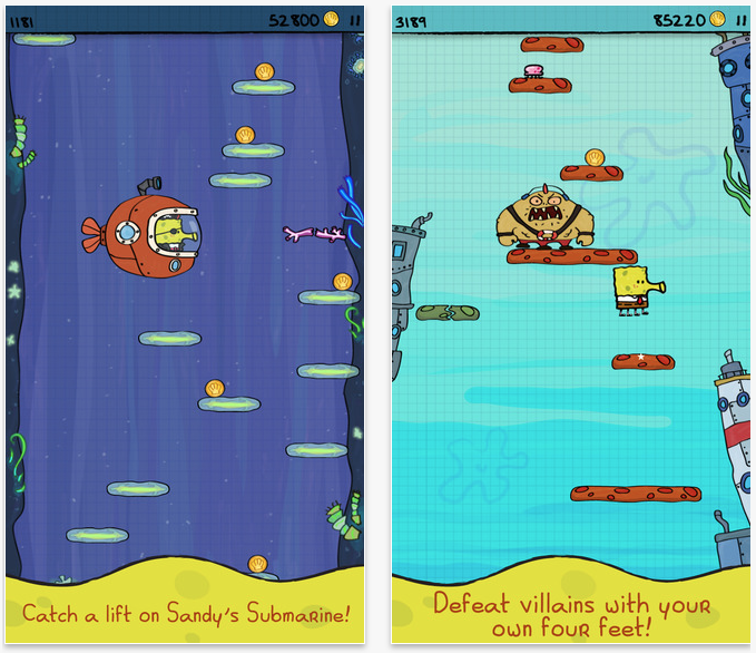 Doodle Jump SpongeBob SquarePants goes free as Apple's App of the Week.