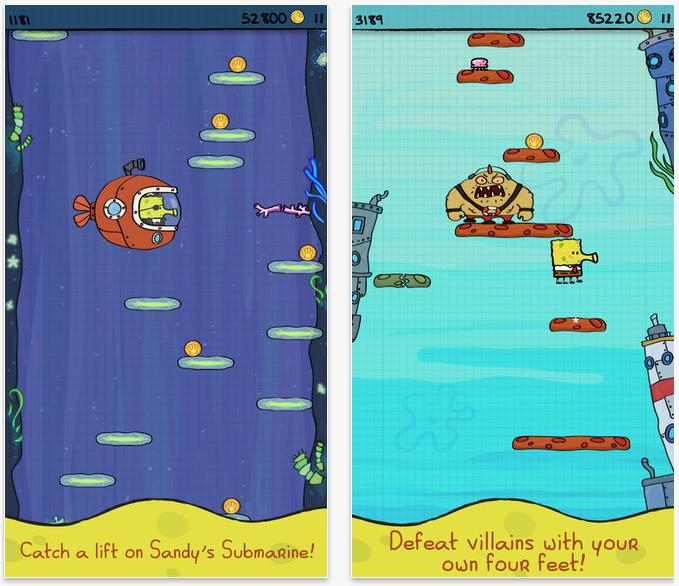 Doodle Jump SpongeBob SquarePants goes free as Apple's App of the Week.