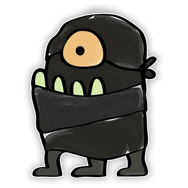 Doodle Jump Ninja: One Eyed Monster (Three Legs).
