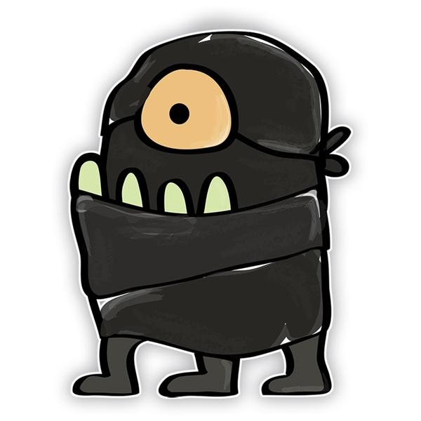 Doodle Jump Ninja: One Eyed Monster (Three Legs).