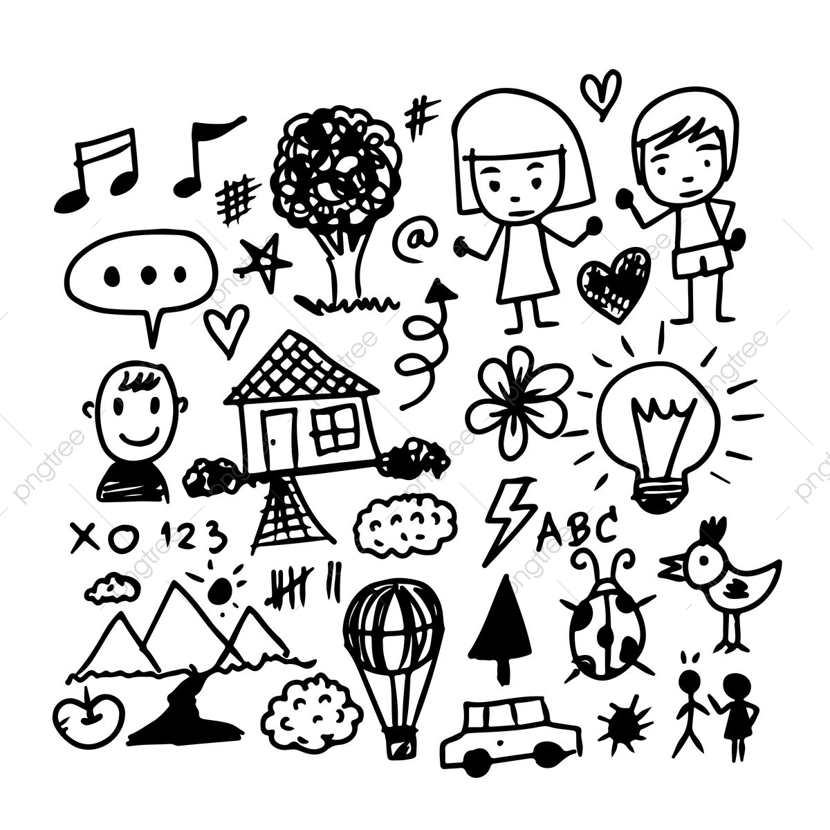 Hand Draw Business Doodles Icon, Business, Sketch, Doodle PNG and.