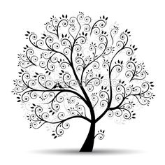 Zentangle Trees: Digital Stamps, Trees, Digi Stamps, 'Stylized.