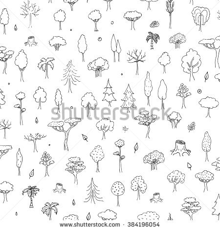 Tree Doodle Stock Images, Royalty.