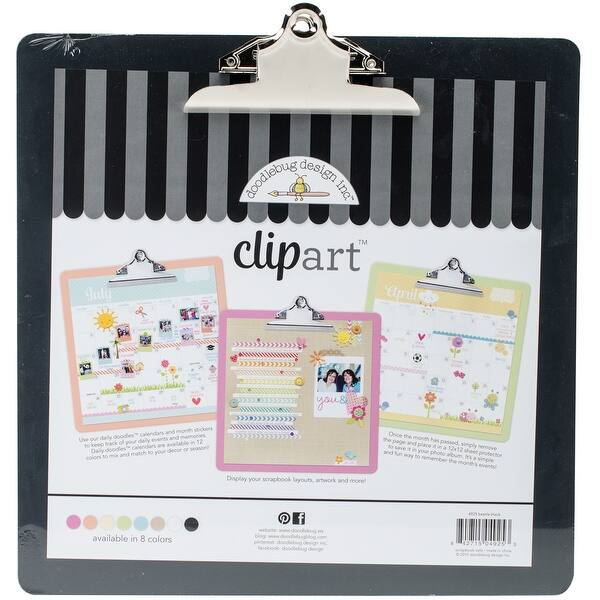 Doodlebug Clipart Monochromatic Clipboard 13.5