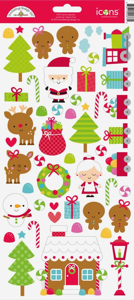 Santa Express Collection Launch & Giveaway from Doodlebug Design.