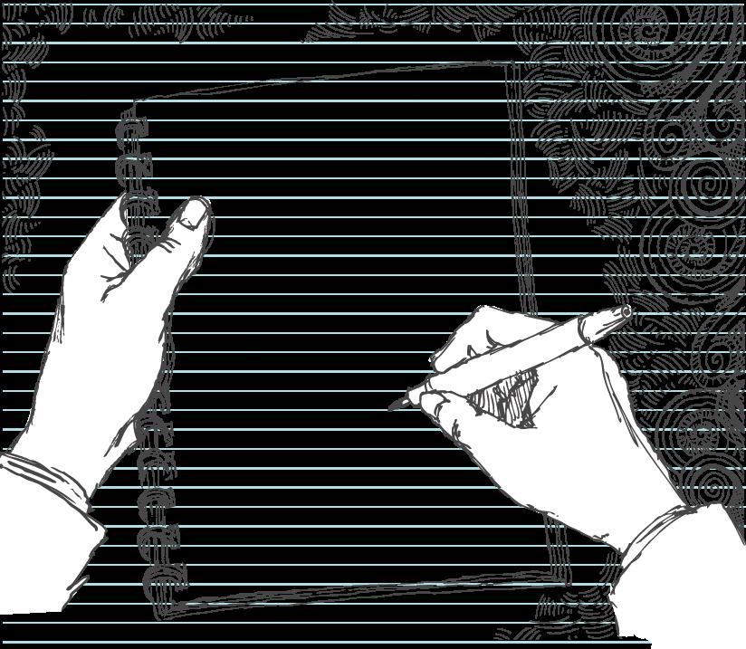Sketched Hand Doodling.