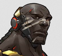 Why doesn't Doomfist have a hand drawn face portrait?.