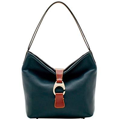 Dooney & Bourke Belvedere Collection Logo Lock Hobo Bag.