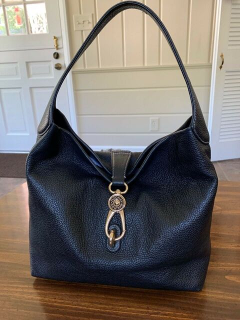 Dooney & Bourke Pebbled Leather Logo Lock Hobo.