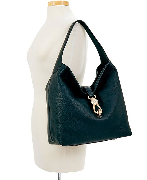 Belvedere Lock Pebble Leather Hobo.