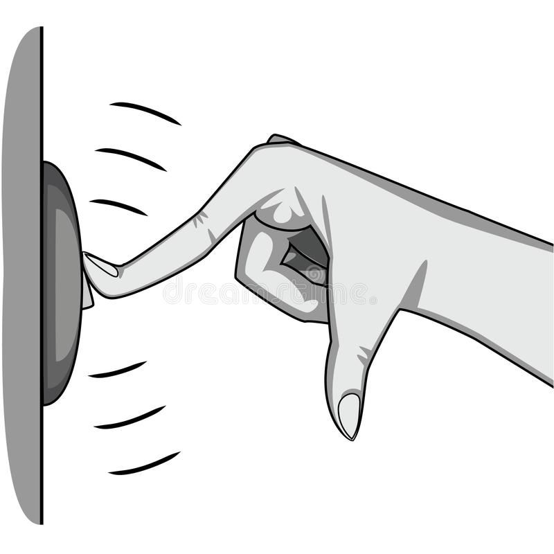 Finger Ringing Door Bell Stock Illustrations.