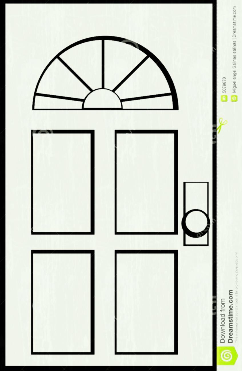 Door clipart black and white, Door black and white.