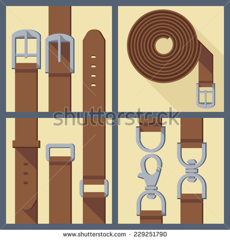 Vector Leather Belt Stock Photos, Royalty.