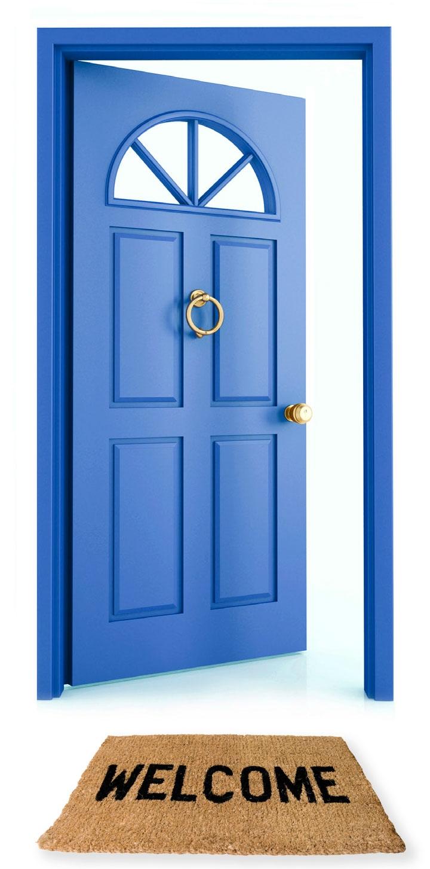 Welcome open church door clipart.