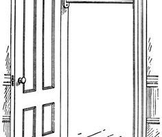 Open door clipart black and white » Clipart Portal.