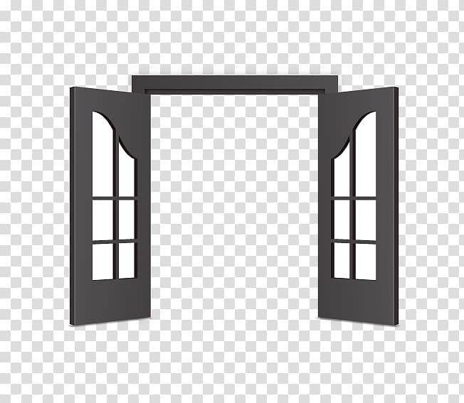 Door Icon, Open door transparent background PNG clipart.
