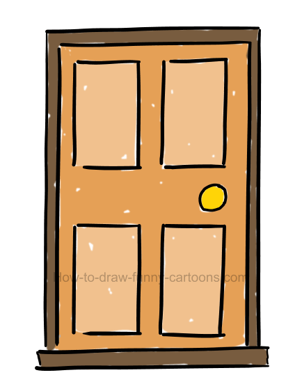 How to draw a door clipart.