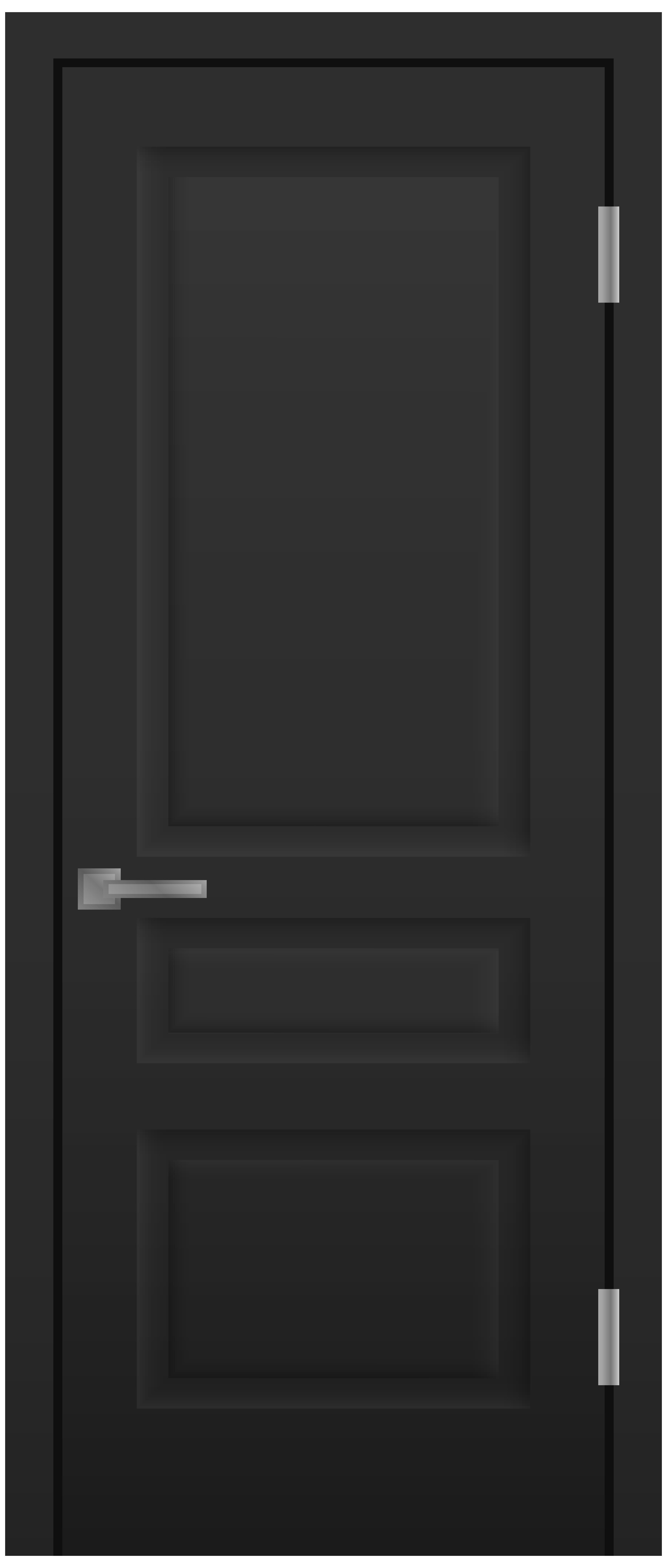 Door Black PNG Clip Art.