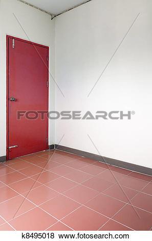 Pictures of Red door corner white room k8495018.