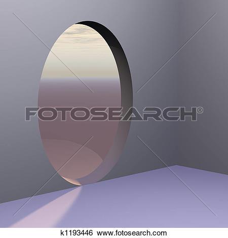 Stock Illustration of Corner Oval Abstract Door k1193446.