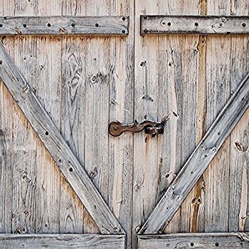 Amazon.com: Rustic Country Barn Doors Fabric SHOWER CURTAIN.