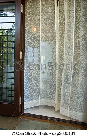 Stock Photography of Sheer Curtains.