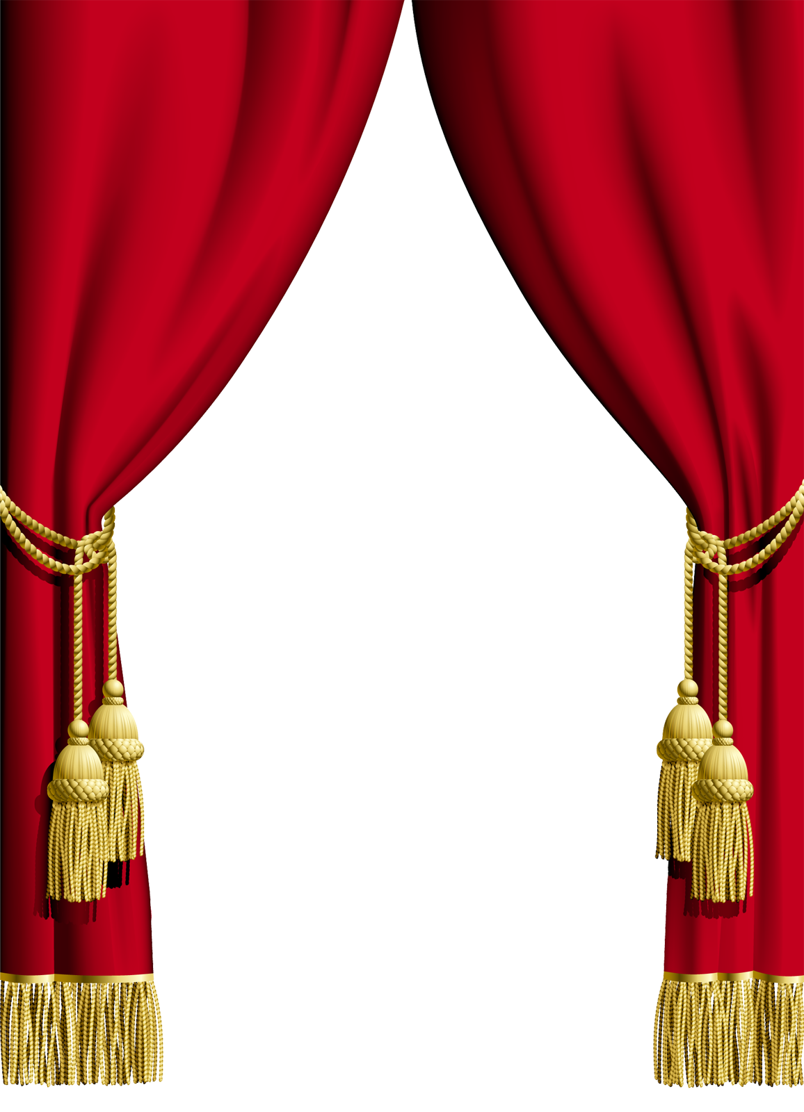 Transparent Blue Curtain PNG Clipart.