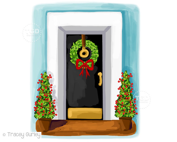 Christmas Door Clipart Free.