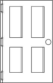 door black and white clip art.