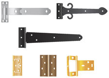 Door Hinges Stock Illustrations.
