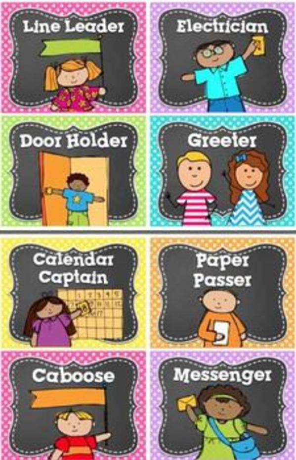33 Classroom Job/ Helpers.