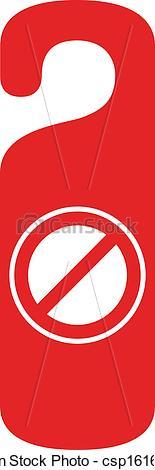 Vector of do not disturb door hanger csp16165589.