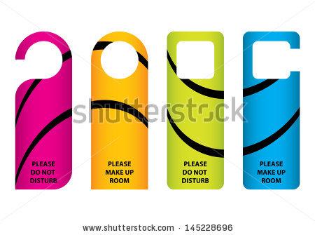 Hotel Do Not Disturb Door Hanger Stock Vector 134506307.