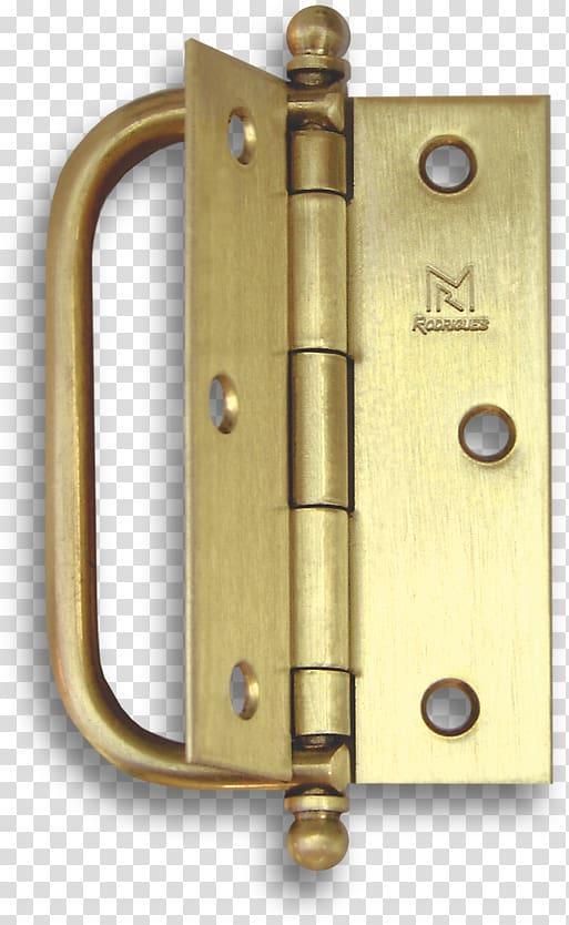 Lock Hinge Brass Folding door, Brass transparent background.