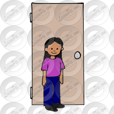 Door Holder Picture for Classroom / Therapy Use.