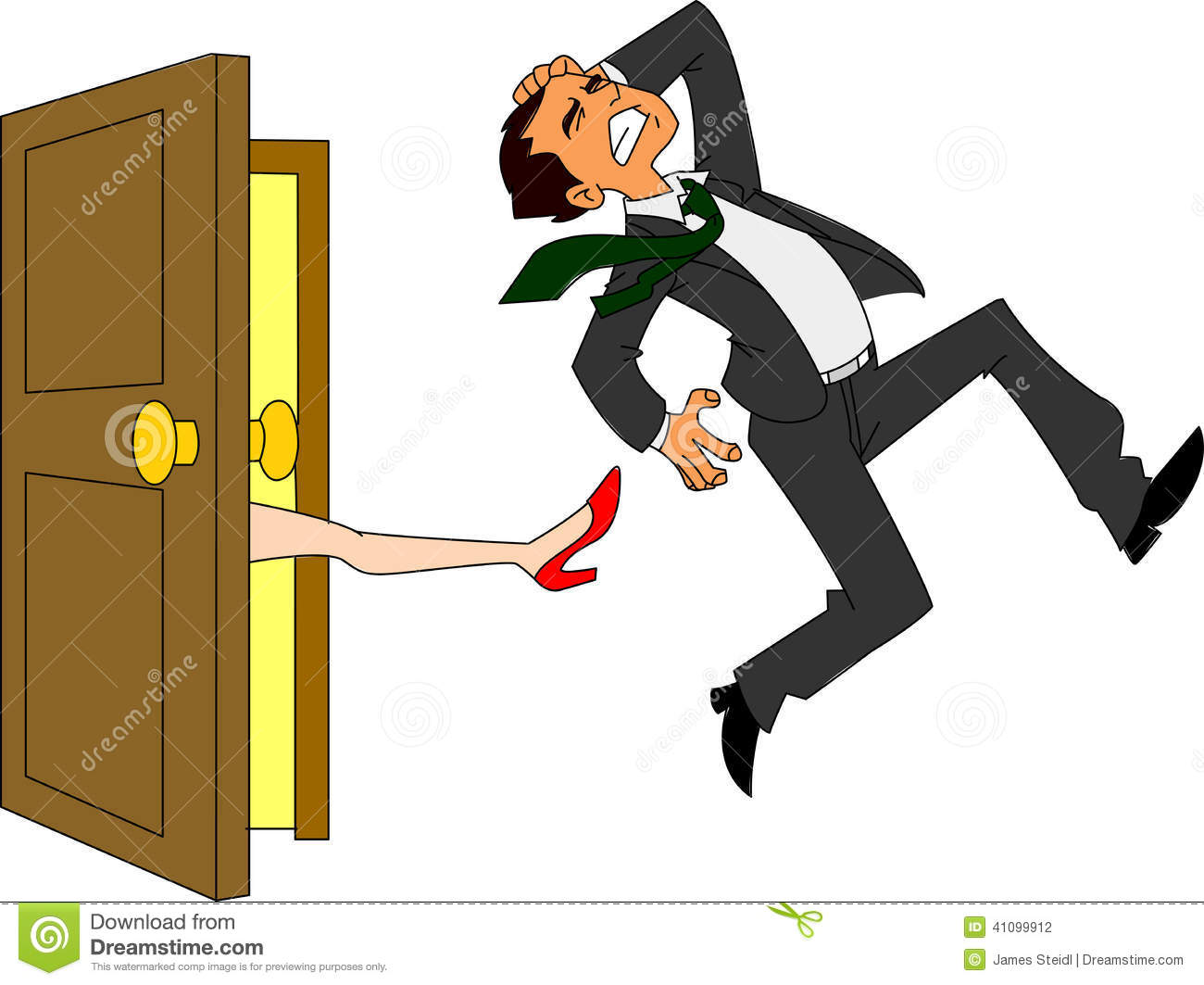 Gallery For > Woman Kicking Husband Out Clipart.