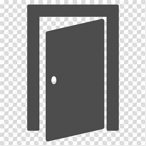Grey door illustration, Computer Icons Window Door, Door.