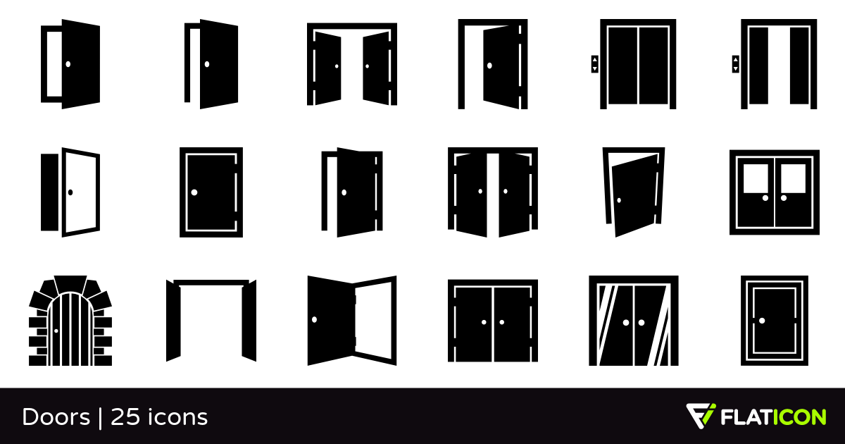 Doors 25 free icons (SVG, EPS, PSD, PNG files).