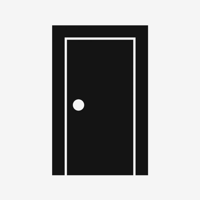 Vector Door Icon, Black Door Icon, Simple Door Icon, Rectangular.