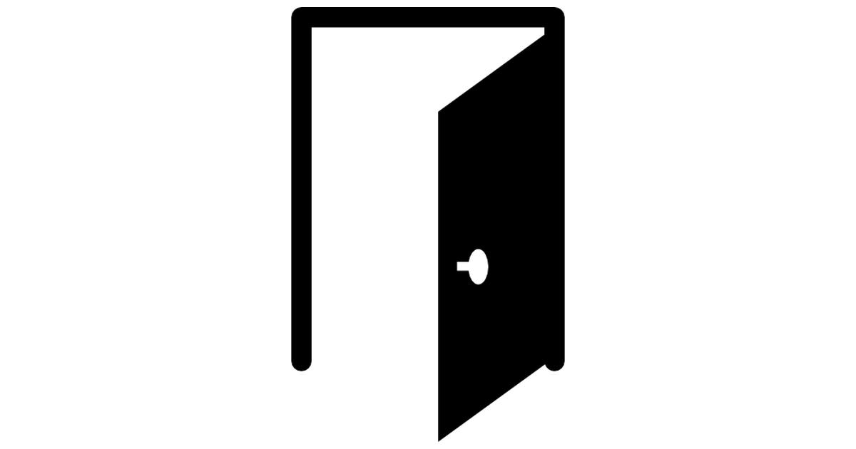 Open door with border.