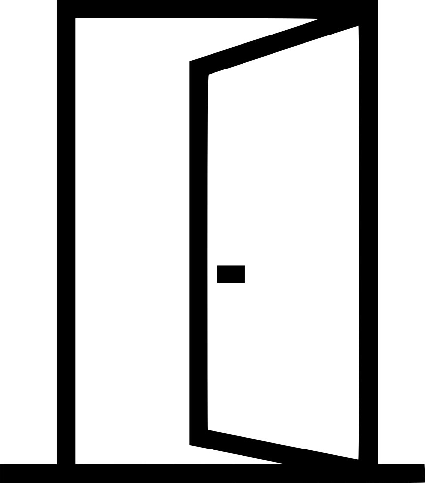 Door Entrance Opened Outside Svg Png Icon Free Download (#538948.