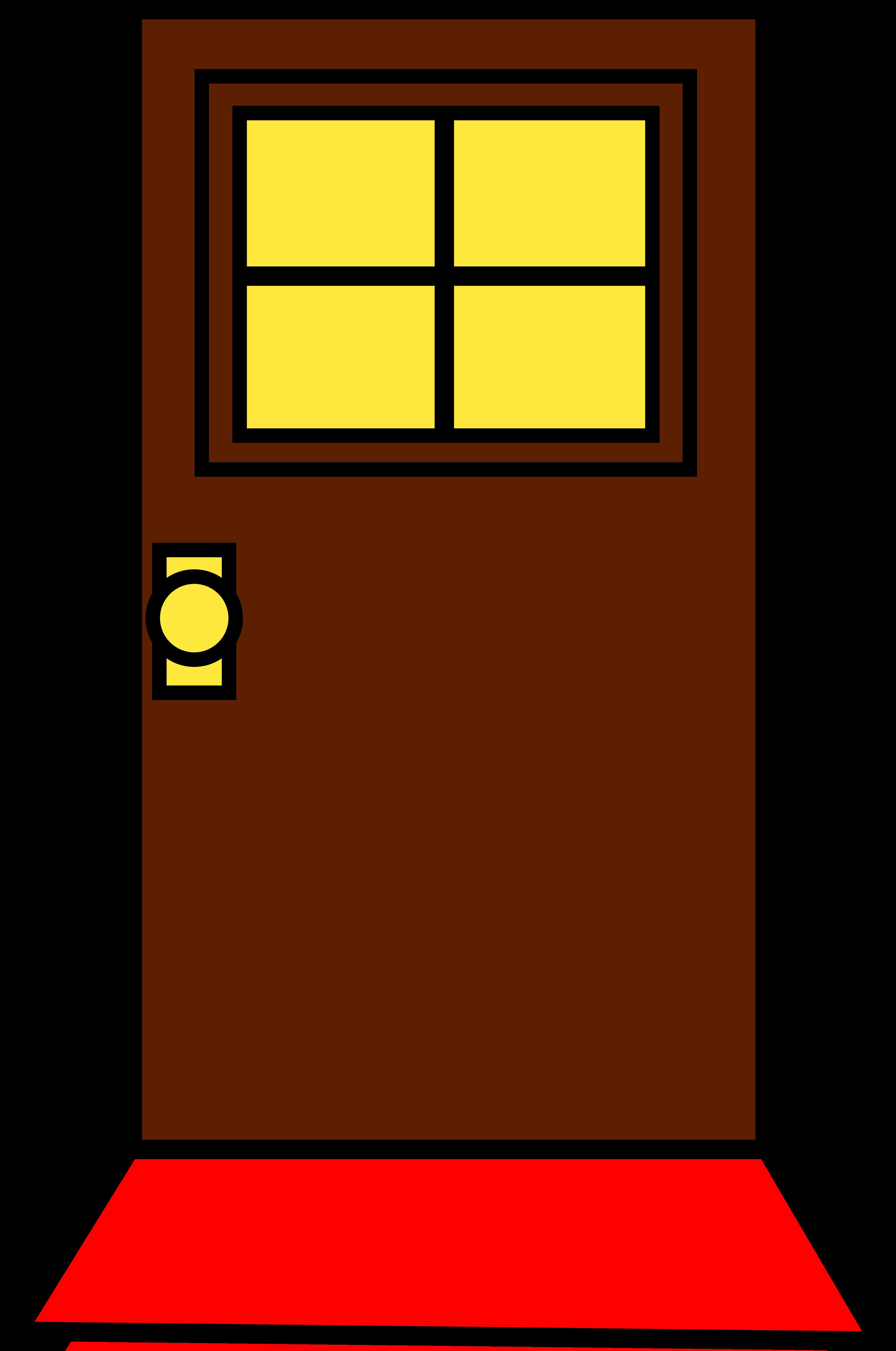 Door clipart brown door, Door brown door Transparent FREE.