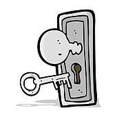 Clipart of Key Door k19201354.
