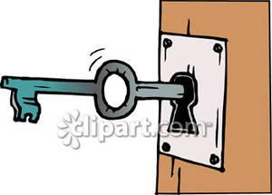 Door Key Clipart.