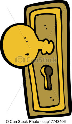 Vector Clipart of cartoon door knob csp17743406.