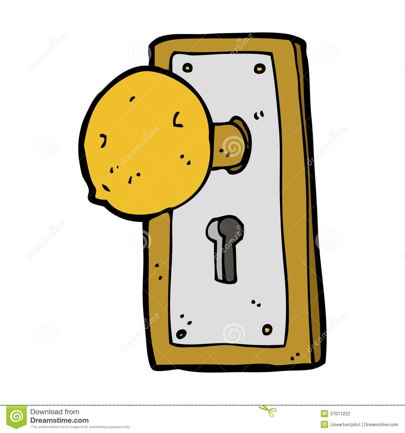 Hand Door Knob Stock Illustrations.